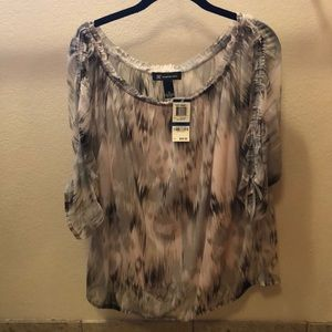NWT. Sheer blouse with cami.
